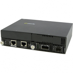 10 Gigabit Ethernet IP-Managed Stand-Alone Media Converter with One XFP Slot - Yes - 10GBase-X - 2 x Expansion Slots - 1 x SFP+ Slots - 1x XFP Slots - Wall Mountable Rail-mountable Rack-mountable