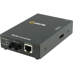 S-110PP-S2ST120 Media Converter - 1x PoE+ (RJ-45) Ports - 1 x ST Ports - 100Base-ZX 10/100Base-TX - Rail-mountable Rack-mountable Wall Mountable
