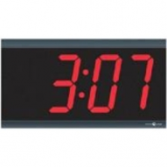 TimeTrax Sync 4in x 4 Digit Red LED Power over Ethernet Digital Wall Clock - Digital