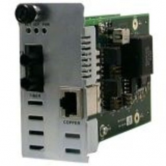 Point System Slide-In-Module POTS 2-Wire Copper to Fiber - Media converter - RJ-11 / SC single-mode - up to 12.4 miles - 1550 (TX) / 1310 (RX) nm
