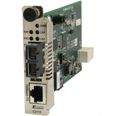 Networks Fast Ethernet Media Converter - 1 x Network (RJ-45) - 10/100Base-TX - 1 x Expansion Slots - 1 x SFP Slots - Internal