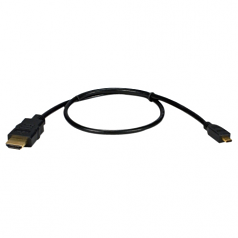 High Speed HDMI to Micro-HDMI with Ethernet 1080p HD Cable - HDMI for Audio/Video Device Camcorder Cellular Phone Camera TV Projector Tablet PC - 6.56 ft - 1 x HDMI (Type A) Male Digital Audio/Video - 1 x HDMI (Micro Type D) Male Digital Audio/Video