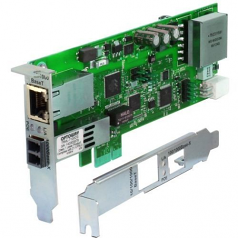 Network adapter - PCIe - 1000Base-SX x 1 + Gigabit Ethernet (PoE+) x 1 - 850 nm