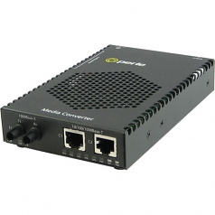 S-1110DPP-S2ST120 Media Converter - 2x PoE+ (RJ-45) Ports - 2 x ST Ports - 10/100/1000Base-T 1000Base-ZX - Rail-mountable Rack-mountable