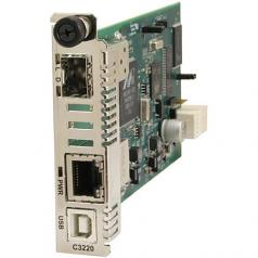 Networks Gigabit Ethernet Media Converter - 1 x Network (RJ-45) - - USB - 1000Base-T 1000Base-X - 2 x Expansion Slots - 2 x SFP Slots - Internal