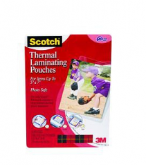 Scotch Thermal Laminating Pouch - 5 inch Width x 7 inch LengthPhoto-safe - 20 / Pack - Clear