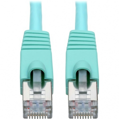 Cat6a 10G-Certified Snagless Shielded STP Network Patch Cable (RJ45 M/M)  PoE Aqua 30 ft. - Patch cable - RJ-45 (M) to RJ-45 (M) - 30 ft - STP - CAT 6a - snagless stranded - aqua