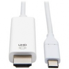 USB C to HDMI Adapter Cable USB 3.1 Gen 1 4K M/M USB-C White 6ft - Video cable - HDMI / USB - HDMI (M) to USB-C (M) reversible - 6 ft - white - 4K support
