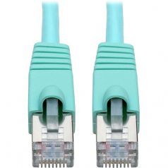 Cat6a 10G-Certified Snagless Shielded STP Network Patch Cable (RJ45 M/M)  PoE Aqua 20 ft. - Patch cable - RJ-45 (M) to RJ-45 (M) - 20 ft - STP - CAT 6a - snagless stranded - aqua