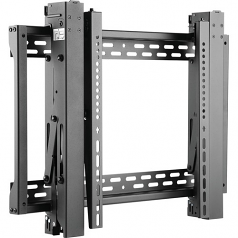 Pop-Out Video Wall Mount w/Security for 45 inch to 70 inch TVs and Monitors - Flat Screens UL Certified - Wall mount for TV and monitor - lockable - steel - black - screen size: 45 inch -70 inch