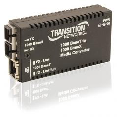 Networks Mini Gigabit Ethernet Media Converter - 1 x Network (RJ-45) - 1 x SC Ports - 10/100/1000Base-T 1000Base-SX - Desktop Wall Mountable Rack-mountable