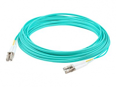 Fiber Optic Duplex Patch Network Cable - Fiber Optic for Network Device Patch Panel Hub Switch Router Media Converter - 32.81 ft - 2 x LC Male Network - 2 x ST Male Network - Aqua