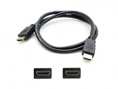 1.82m (6.00ft) HDMI 1.4 Male to Male Black Cable - 100% compatible with select devices.
