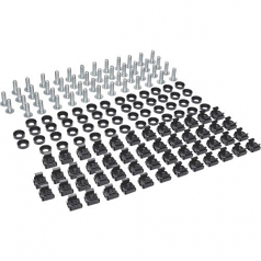 Lite Square Hole Hardware Kit (Includes 50 Pcs 12-24 Screws and Washers.) - Cage Nut Rack Screw Cup Washer