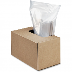 Waste Bags for Fortishred and High Security Shredders - 50 gal - 50 inch x 42.50 inch x 22 inch - 50/Carton - Clear