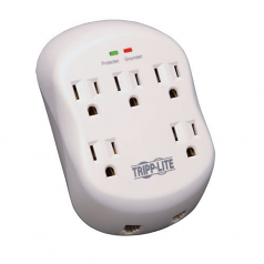 Surge Protector Wallmount Direct Plug In 5 Outlet RJ11 1080 Joules - Surge protector - 15 A - AC 120 V - 1875 Watt - output connectors: 5 - gray