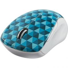 Wireless Notebook Multi-Trac Blue LED Mouse - Mouse - blue Led - 5 buttons - wireless - 2.4 GHz - USB wireless receiver - blue diamond pattern