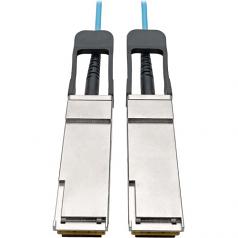 QSFP+ to QSFP+ Active Optical Cable - 40Gb AOC M/M Aqua 2 m (6.6 ft.) - 40GBase-AOC direct attach cable - QSFP+ (M) to QSFP+ (M) - 2 m - fiber optic - 50 / 125 micron - IEEE 802.3ba/OM3 - plenum active - aqua