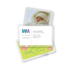 Business Card - Lamination pouches - 7 mil - 100 x glossy - 2.25 in x 3.75 in