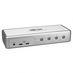 4-Port Desktop Compact DVI/USB KVM Switch with Audio & Cables - KVM / audio switch - 4 x KVM / audio - 1 local user - desktop