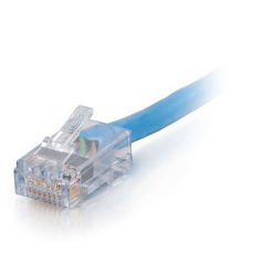 100ft Cat6 Non-Booted UTP Unshielded Ethernet Network Patch Cable - Plenum CMP-Rated - Blue - Patch cable - RJ-45 (M) to RJ-45 (M) - 100 ft - UTP - CAT 6 - plenum - blue