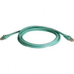 14ft Augmented Cat6 Cat6a Snagless 10G Patch Cable RJ45 Aqua 14 feet - Patch cable - RJ-45 (M) to RJ-45 (M) - 14 ft - UTP - CAT 6a - snagless stranded - aqua blue