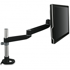 Mounting Arm for Flat Panel Display - 30 lb Load Capacity - Silver