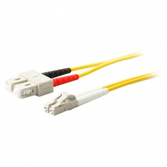 8m SMF 9/125 Duplex SC/LC OS1 Yellow LSZH Patch Cable - Fiber Optic for Network Device Patch Panel Media Converter Router Hub Switch - 26.25 ft - 2 x SC - 2 x LC - Yellow