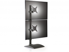 TAA COMPLIANT STAND FOR TWO MONITORS ONE OVER THE OTHER. 28 POLE HEIGHT BUILT I