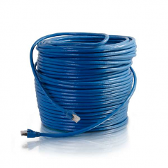 100ft Cat6 Snagless Solid Shielded Ethernet Network Patch Cable - Blue - Patch cable - RJ-45 (M) to RJ-45 (M) - 100 ft - screened shielded twisted pair (SSTP) - CAT 6 - snagless - blue