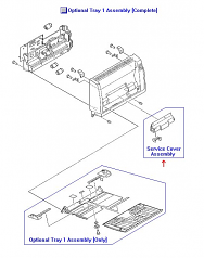 Service cover assembly - Cover for pickup and separation rollers