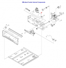 Paper feeder driver PCA - Located on right side of 500-sheet paper feeder assembly