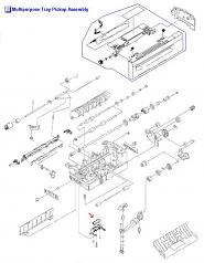 Color LaserJet 4005 4600 4610 4650 4700 4730 Multipurpose Separation Pad Assembly