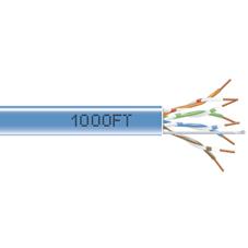 1000-FT. CAT5E SOLID CABLE 350MHZ UTP PLENUM BLUE