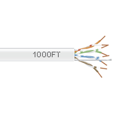 1000-FT WHITE CAT5E SOLID CABLE 350MHZ UTP CMP