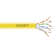 1000-FT YELLOW CAT5E SOLID CABLE 350MHZ UTP CMP