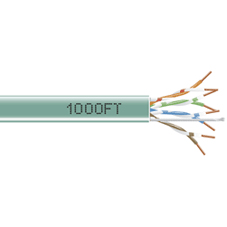 1000-FT GREEN CAT5E SOLID CABLE 350MHZ UTP CMP
