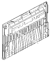 Left side door - Left cover that diverter assembly attaches to