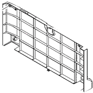 1 x 500-sheet paper input tray rear cover