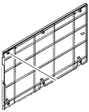 1 x 500-sheet paper input tray left cover