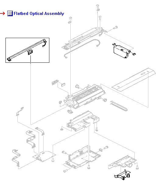 Flatbed Scanner Optical Assembly Includes The Support Structure Lamp Assembly Charge Coupled Devices Ccd And Lens