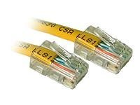 Patch cable - RJ-45 (M) to RJ-45 (M) - 5 ft - CAT 5e - stranded - yellow (pack of 100)
