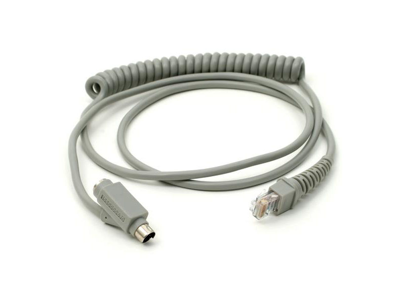 MAC / ADB KEYBOARD WEDGE INTERFACE COILED CABLE LIGHT COLOR (FOR MS180 MS210