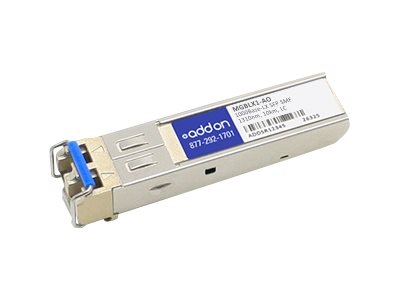 Linksys MGBLX1 Compatible SFP Transceiver - SFP (mini-GBIC) transceiver module - GigE - 1000Base-LX - LC single-mode - up to 6.2 miles - 1310 nm