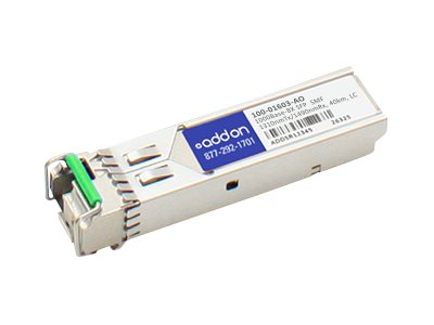 SFP (mini-GBIC) transceiver module (equivalent to: Calix 100-01603) - Gigabit Ethernet - 1000Base-BX - LC single-mode - up to 24.9 miles - 1310 (TX) / 1490 (RX) nm
