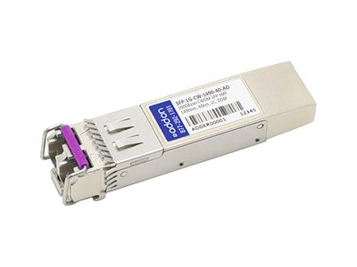 SFP (mini-GBIC) transceiver module (equivalent to: Arista Networks SFP-1G-CW-1490-40) - GigE - 1000Base-CWDM - LC single-mode - up to 24.9 miles - 1490 nm - TAA Compliant