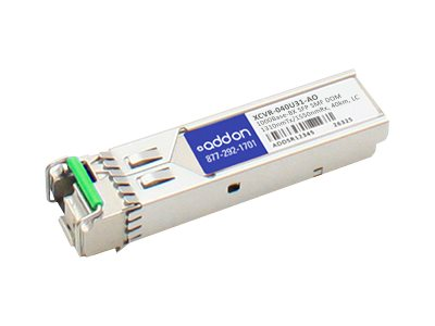 SFP (mini-GBIC) transceiver module (equivalent to: Ciena XCVR-040U31) - GigE - 1000Base-BX - LC single-mode - up to 24.9 miles - 1310 (TX) / 1550 (RX) nm - TAA Compliant - for Ciena ActivEdge 3920 Service Delivery Switch