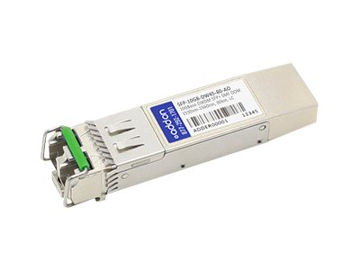 SFP+ transceiver module - 10 GigE - 10GBase-DWDM - LC single-mode - up to 49.7 miles - channel: 45 - 1541.35 nm - TAA Compliant