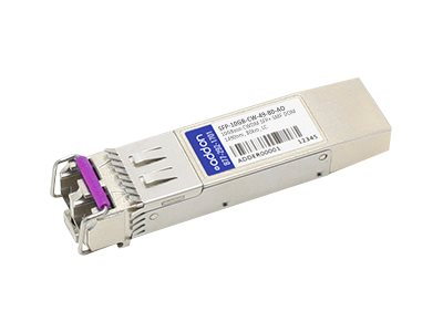 SFP+ transceiver module - 10 GigE - 10GBase-CWDM - LC single-mode - up to 49.7 miles - 1490 nm - TAA Compliant