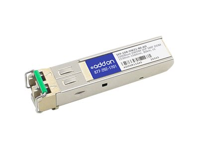 SFP (mini-GBIC) transceiver module - GigE - 1000Base-DWDM - LC single-mode - up to 49.7 miles - channel: 21 - 1560.61 nm - TAA Compliant